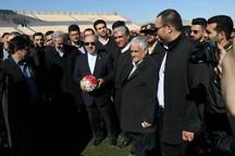 ورزشگاه 5000 نفری مراغه توسط وزیر ورزش به بهرهبرداری رسید