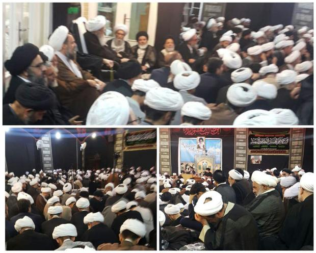 جلسه عمومی نشست دورهای اساتید سطوح عالی و خارج حوزه علمیه قم برگزار شد + عکس