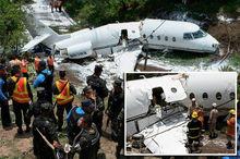 تصاویر/ هواپیمای هندوراس نصف شد