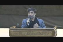 عزاداری شب تاسوعای حسینی مهاجرین افغانستانی در حرم امام