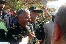 حضور فرمانده سپاه در مناطق زلزلهزده سرپل ذهاب