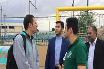 مسابقات فوتبال ساحلی اوراسیا در یزد مناسب برگزار شود