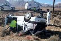 واژگونی خودرو در آزادراه کاشان - قم یک کشته برجا گذاشت