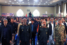 اجتماع هشت هزار نفری بسیجیان شیعه و سنی زاهدان برگزار شد
