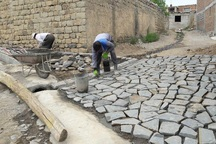 346هزار مترمربع از معابر روستایی سنگ فرش شد