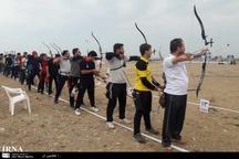 مسابقات تیراندازی با کمان ساحلی کشور در بوشهر آغاز شد