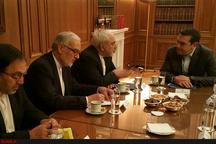 ظریف با نخستوزیر یونان دیدار کرد