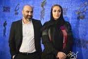 محسن تنابنده و همسرش روی فرش قرمز جشنواره+عکس