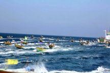 تکاوران نیروی دریایی سپاه جان ۳۵۰ ماهگیر توفان زده را نجات دادند