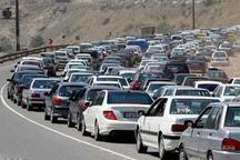 ترافیک سنگین در مسیر شمال به جنوب جاده چالوس