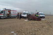 واژگونی خودرو در شهرضا 10 مصدوم در پی داشت