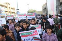 راهپیمایی پرشور مردم اهواز در پاسداشت حماسه 9دی و حمایت از ولایت و آرمان های انقلاب اسلامی