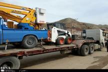 ادوات راهسازی ستاد بحران ورامین به مناطق سیل زده ارسال شد