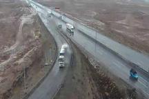 باران جاده های زنجان را لغزنده کرد