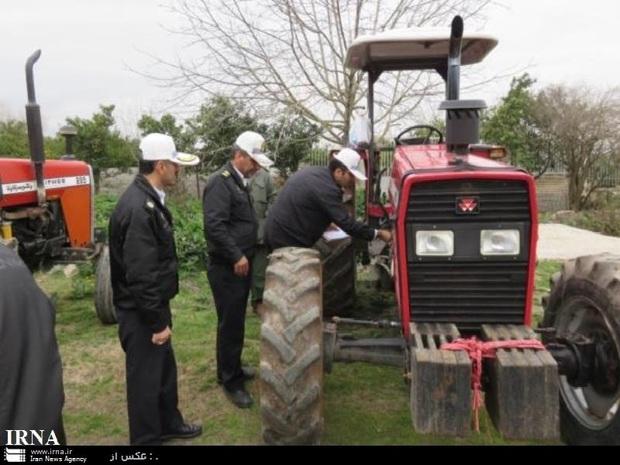 10 هزار ماشین کشاورزی در خراسان رضوی پلاک گذاری شدند