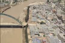 تصاویر هوایی از شهر سیلزده پلدختر