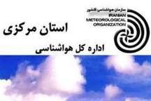 تداوم ناپایداری های جوی وسامانه بارشی در استان مرکزی تا24 ساعت آینده
