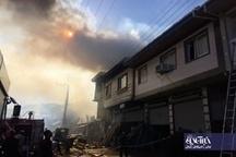 تصاویر | مهار آتش سوزی ۶ خانه در لاهیجان