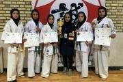 درخشش بانوان کاراته کار کاشمر در رقابتهای قهرمانی کشور