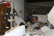 انفجار گاز در بندرترکمن ساختمان دو طبقه را ویران کرد