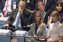 واکنش ها در هنگام سخنرانی ترامپ علیه ایران +تصاویر