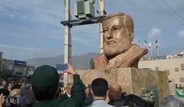 تندیس دو سردار شهید پیشمرگ مسلمان کرد در سنندج رونمایی شد
