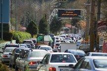 تردد خودروها از مرزن آباد به سمت کرج ممنوع شد