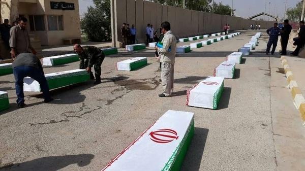 بازگشت پیکر 56 شهید دفاع مقدس به آغوش وطن از مرز خسروی+تصاویر