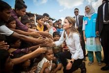 دیدار ملکه اردن با مسلمانان روهینگیا+ تصاویر