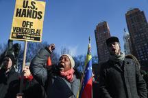 تظاهرات در آمریکا در حمایت از ونزوئلا