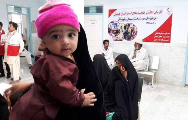 هلال احمر همدان به یاری بیماران سیستان و بلوچستان شتافتند
