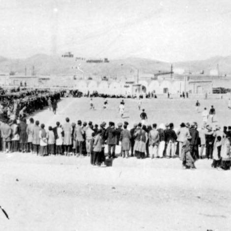 عکسی قدیمی از اولین مسابقه فوتبال در ایران