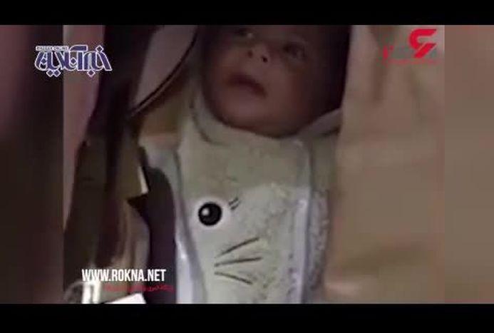قاچاق کودک ۵ ماهه در فرودگاه دبی! + فیلم