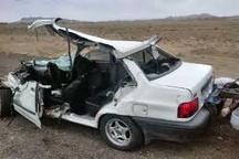 یککشته و 3 زخمی در اثر واژگونی یک دستگاه خودرو پراید