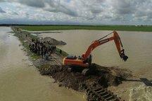 انفجار محدود در راه آهن برای گشایش مسیر سیلاب آق قلا