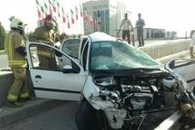 تصادف 206 در شهرک شهید باقری تهران یک کشته داشت