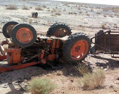 واژگونی تراکتور در زرندیه منجر به مرگ مرد روستایی شد