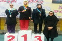 کسب سه مدال طلای قهرمانی کشور توسط ووشوکار بانوی سیستان و بلوچستان