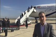 ورود روحانی به فرودگاه بغداد