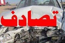 برخورد اتوبوس و تریلی در آزادراه نطنز به اصفهان 8 مصدوم داشت
