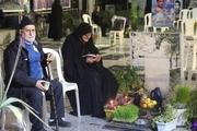 تحویل سال بر مزار شهیدان شاهد در بندرانزلی