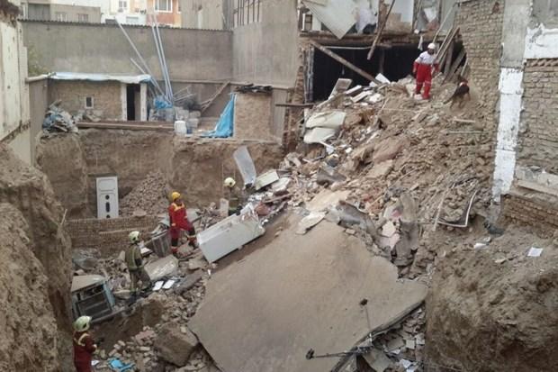 ریزش آوار در جنوب تهران یک مصدوم داشت
