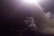 حمله موشکی امریکا به سوریه از ناو یو اس اس راس