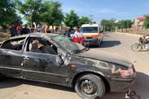 مصدوم شدن 6 نفر بر اثر واژگونی خودروی سمند در قزوین