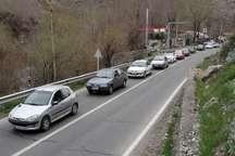 تردد در محور هراز به سمت تهران یکطرفه است