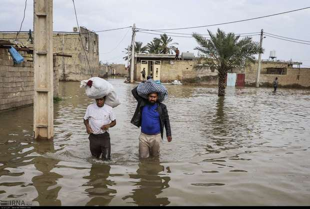 سیلاب حمیدیه، عبدالخان، شیبان و کارون را تهدید می کند