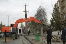 آغاز عملیات بازگشایی خیابان سعیدیه همدان پس از 15 سال وقفه