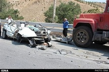تصادف تریلی و پراید3 کشته و یک زخمی برجای گذاشت عکس
