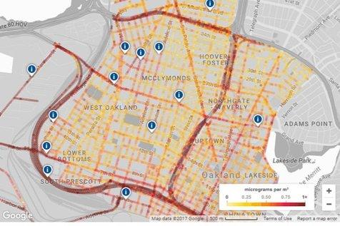 گوگل نقشه آلودگی هوای خیابان را تهیه می کند