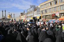 پیکرهای مطهر 6 شهید گمنام در قم تشییع شد